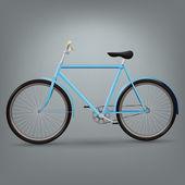 Mavi bisiklet — Stok Vektör