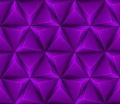 3d Abstract seamless background with purple triangles — Stock Vector
