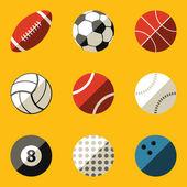 Flat icon set. Sport ball — 图库矢量图片