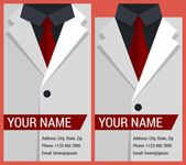 Flat business card template with white jacket — Cтоковый вектор