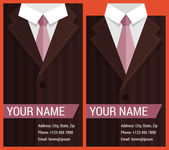Flat business card template with brown jacket — Cтоковый вектор