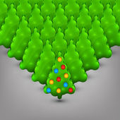 Christmas trees with toys — Stockvektor
