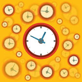 Flat clock background — Vettoriale Stock