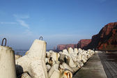 Cliff coast of Helgoland — Stock Photo
