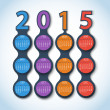 Calendar 2015 metaball vector background — Stock Photo #41599725
