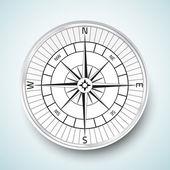 Compas réalistes vector icône illustration — Photo