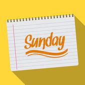 Spiraal kalender zondag notebook kladblok — Stockvector