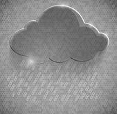 Yellow eco glossy glass cloud icon vector illustration — Stockvektor