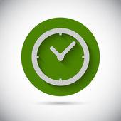 Saat saat düz vektör simgesi — Stok Vektör