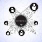 Geometrische Verbindungen Vektor-illustration — Stockvektor