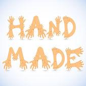 Hand made font vector illustration — Stockvektor