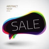 Abstract 3d speech sale bubble vector icon — Vecteur