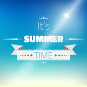 Hot Summer Sun Vector Background — Stock Vector