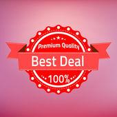 Best deal premium quality badge — Stock Vector