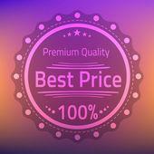 Best price premium quality badge vector — Stock Vector