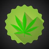 Smoking Marijuana Leaf Ganja Bad Habits — Stock Vector