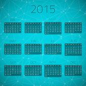 Gloss Calendar 2015 — Stock Vector