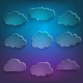 Glossy cloud storage — Stock Vector