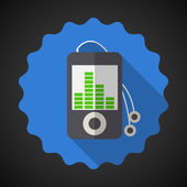 Music MP3 Equalizer Player — Stockvektor