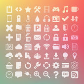 64 Universal Flat Icon Set — Stock vektor
