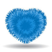 Big soft blue heart isolated on white background — Stock Vector