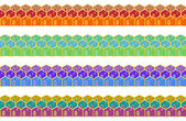 Set of enamel seamless borders — Stock Vector