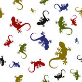 Vector seamless pattern with lizards — Stock Vector