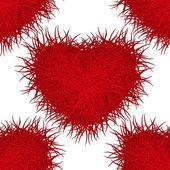Monster red heart. Seamless pattern. Eps 10. — Stock Vector
