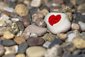 Heart on a rock — Stock Photo