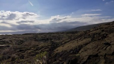 Chain Of Craters Road, Timelapse, Big Island, Hawaii, USA — Stock Video
