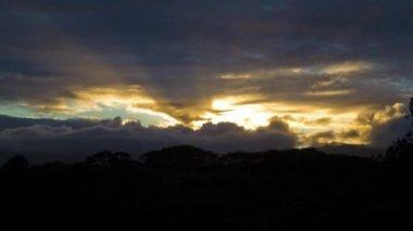 Gün batımı, timelapse, kauai, hawaii, abd — Stok video