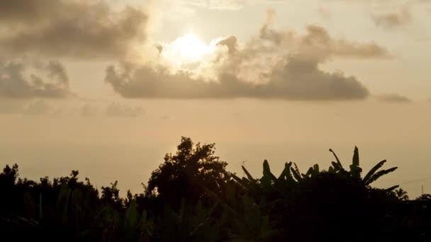 Sunset hotel manago, timelapse, big island, hawaii, estados unidos — Vidéo