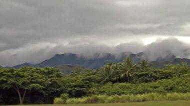 Kualoa bölgesel park, timelapse, oahu, hawaii, abd — Stok video