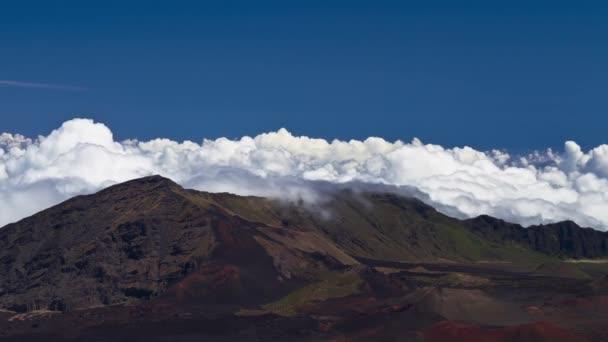 Timelapse nuages haleakala, maui, hawaii, usa — Vidéo