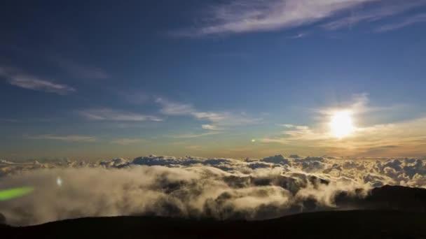 Haleakala sunrise, timelapse, maui, hawaii, usa — Vidéo