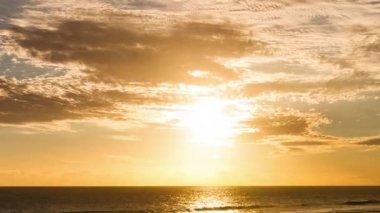 Beach Sunset Close Up Timelapse at La Reunion, Saint Pierre — Stock Video