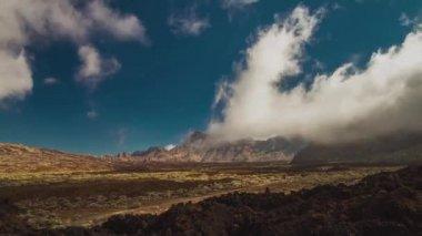 Teide alan, timelapse, tenerife, i̇spanya — Stok video