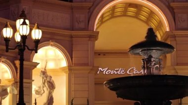 Fountain at the Monte Carlo, Las Vegas — Stock Video