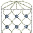 Stock Photo: Embroidered Birdcage with Diamante Buttons
