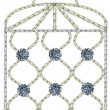 Stock Photo: Victorivintage embroidered birdcage