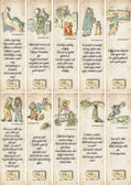 Vintage Bookmarks with Kate Greenaway and Nursery Rhymes — Stock Photo