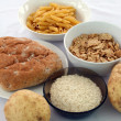 Stock Photo: Selection of healthy carbohydrates