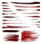 Trazos de pincel vector rojo — Vector de stock