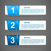 Vector blue paper option labels — Cтоковый вектор
