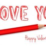 Vector handwritten valentine greeting — Stock Vector #38740045