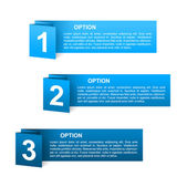 Vector blue paper option labels — Stock Vector