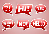 Vector red speech bubbles — Stok Vektör