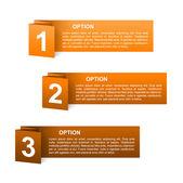 Wektor papier pomarańczowy opcji etykiety — Wektor stockowy