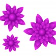 Stock Vector: Vector purple flowers