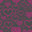 Vector repeated valentine pattern — Vecteur #38960303